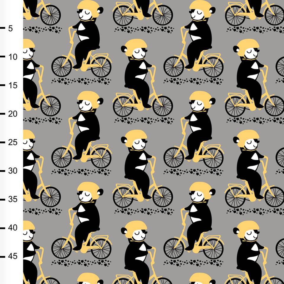 Into pyöräilee joustocollege, harmaa - keltainen