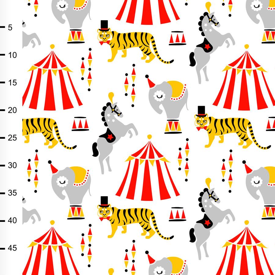 Sirkus puuvilla, valkoinen