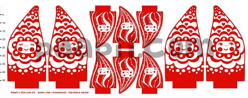 Tuisku ja Tuike ompeluarkki, punainen
