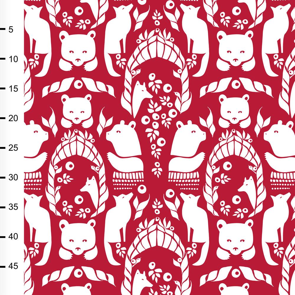 Pohjolan portti trikoo, punainen - valkoinen