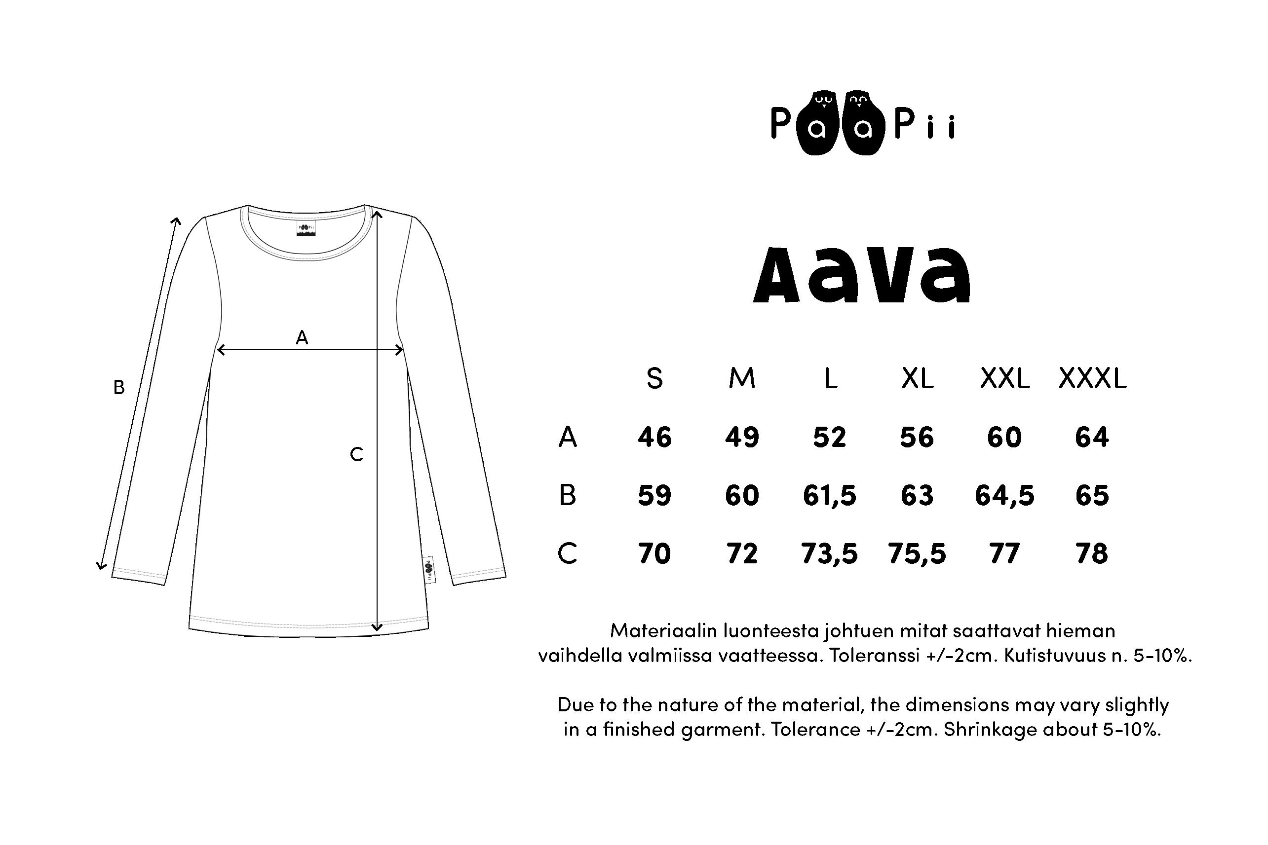 AAVA paita,  Metsätähti