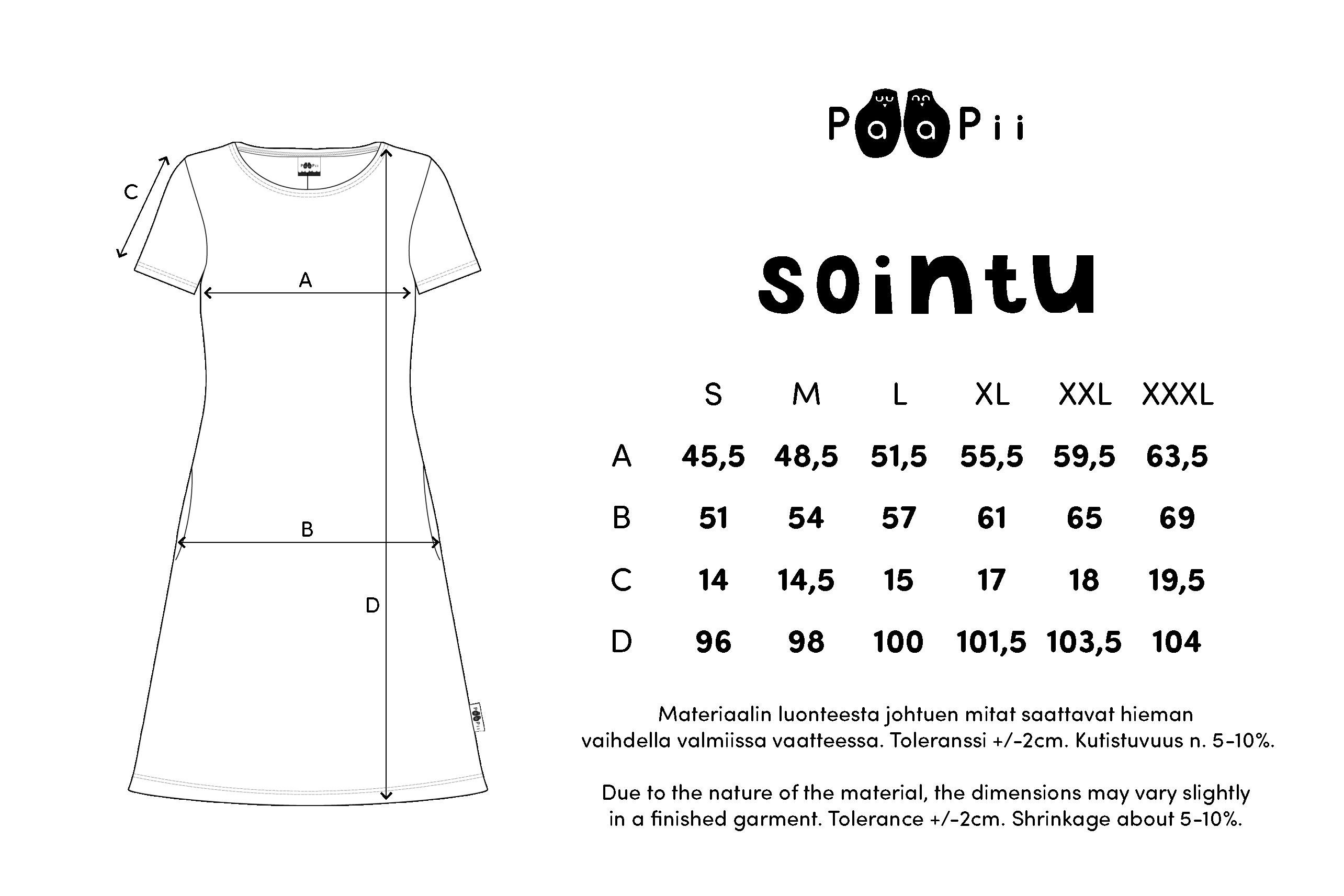 SOINTU mekko,  Niittyleinikki