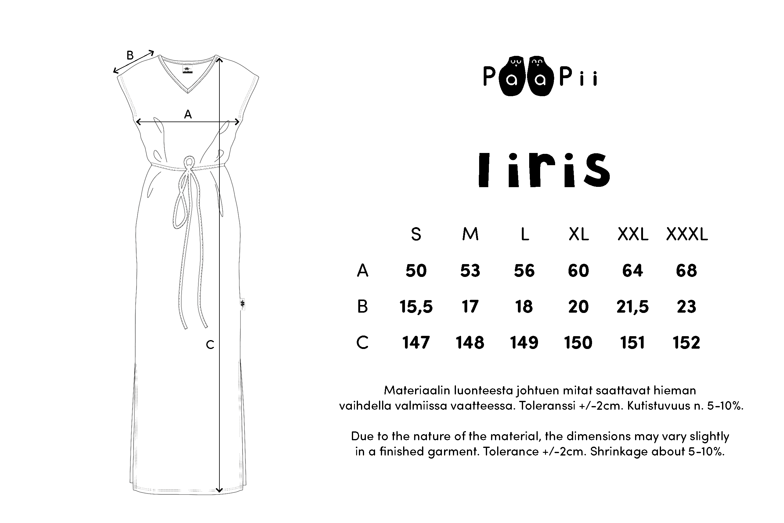 IIRIS mekko,  Banaaninlehti