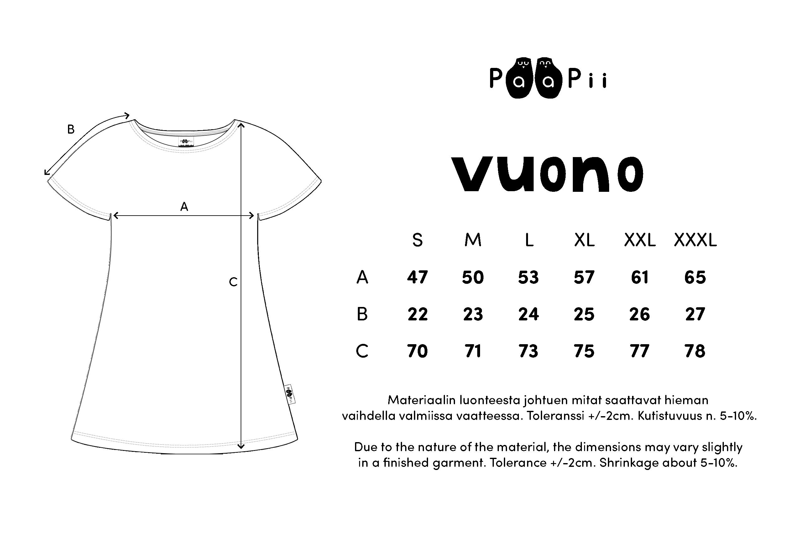 VUONO t-paita,  Sitruuna