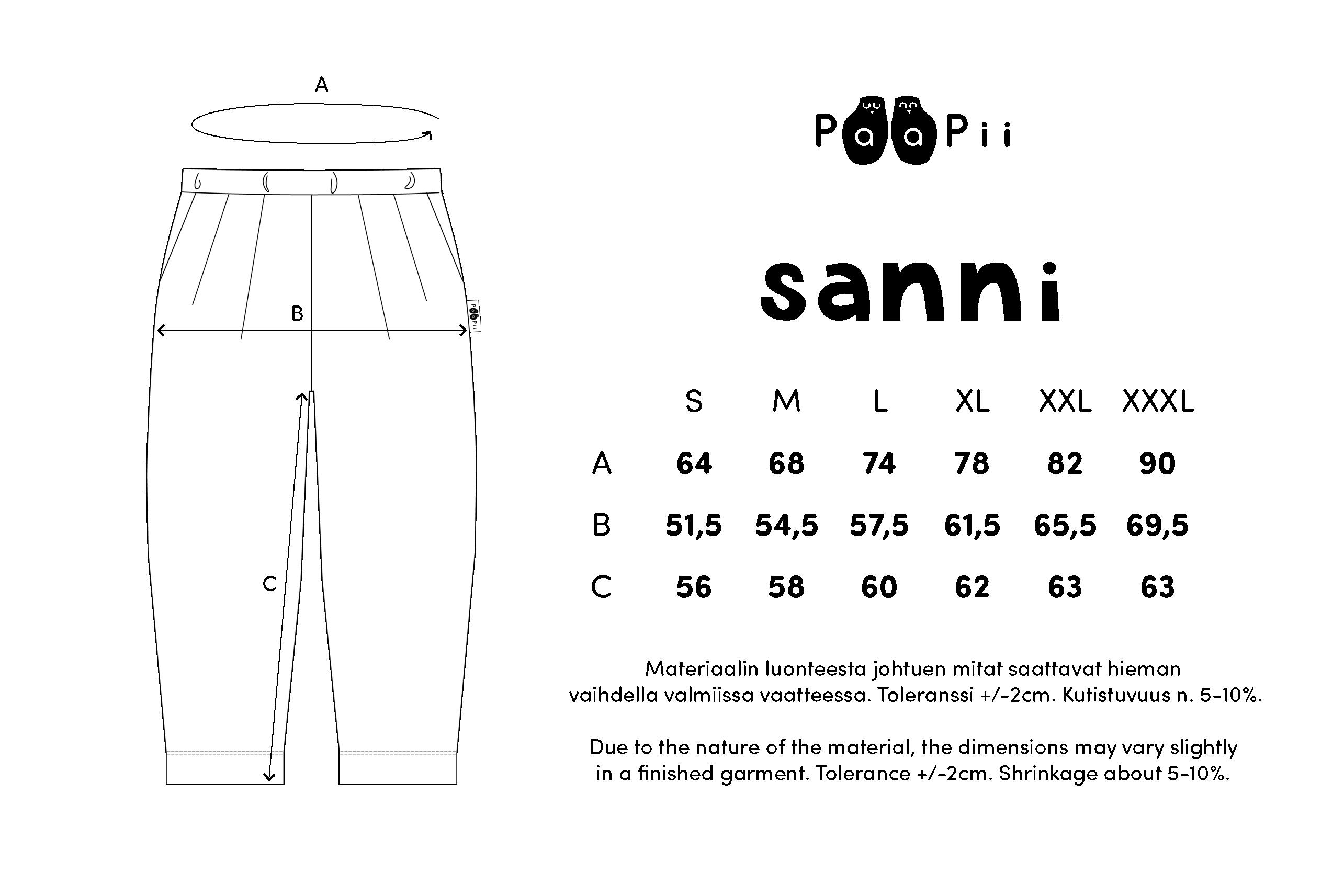 SANNI housut, musta