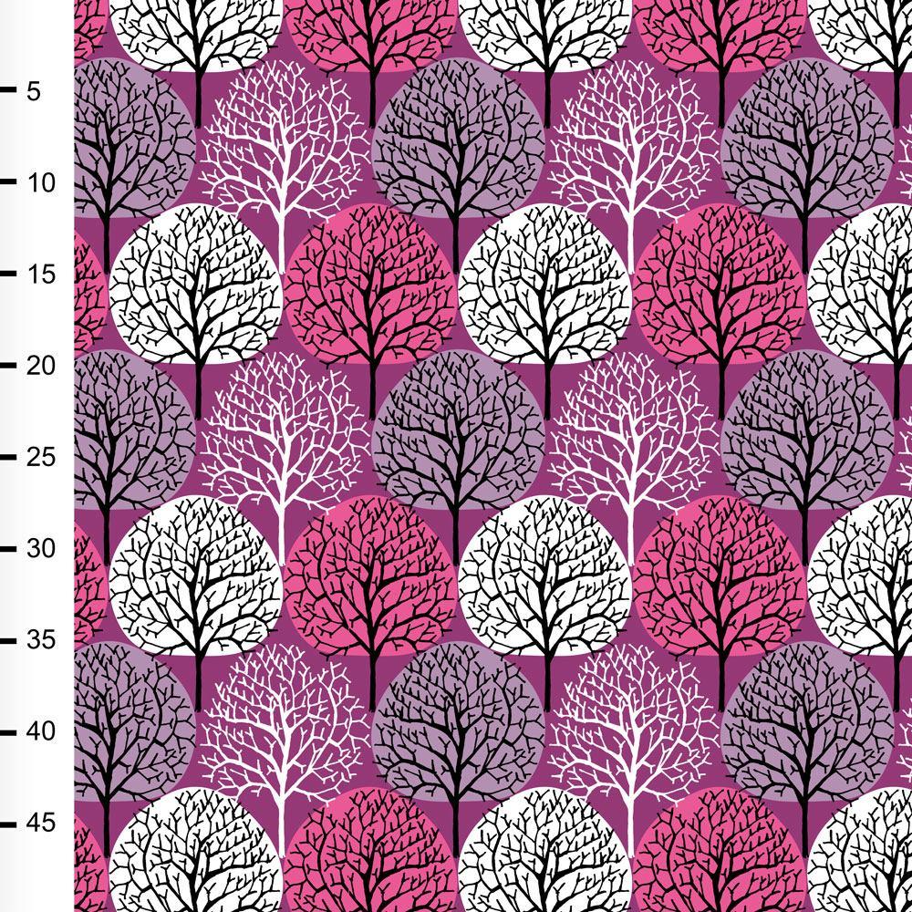 Vuodenajat trikoo, violetti - pinkki - lila