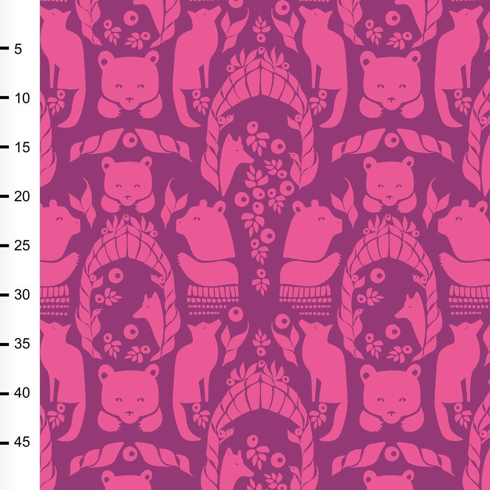 Pohjolan portti trikoo, pinkki - violetti