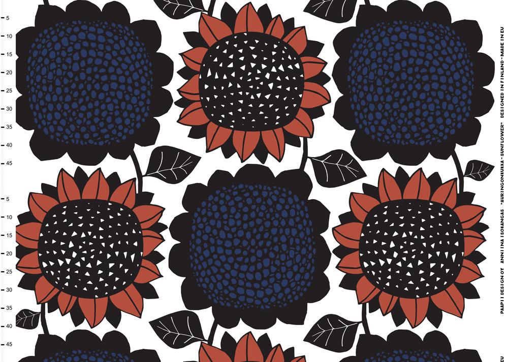 Jätti Auringonkukka puuvillaperkaali, ruoste - mustikka