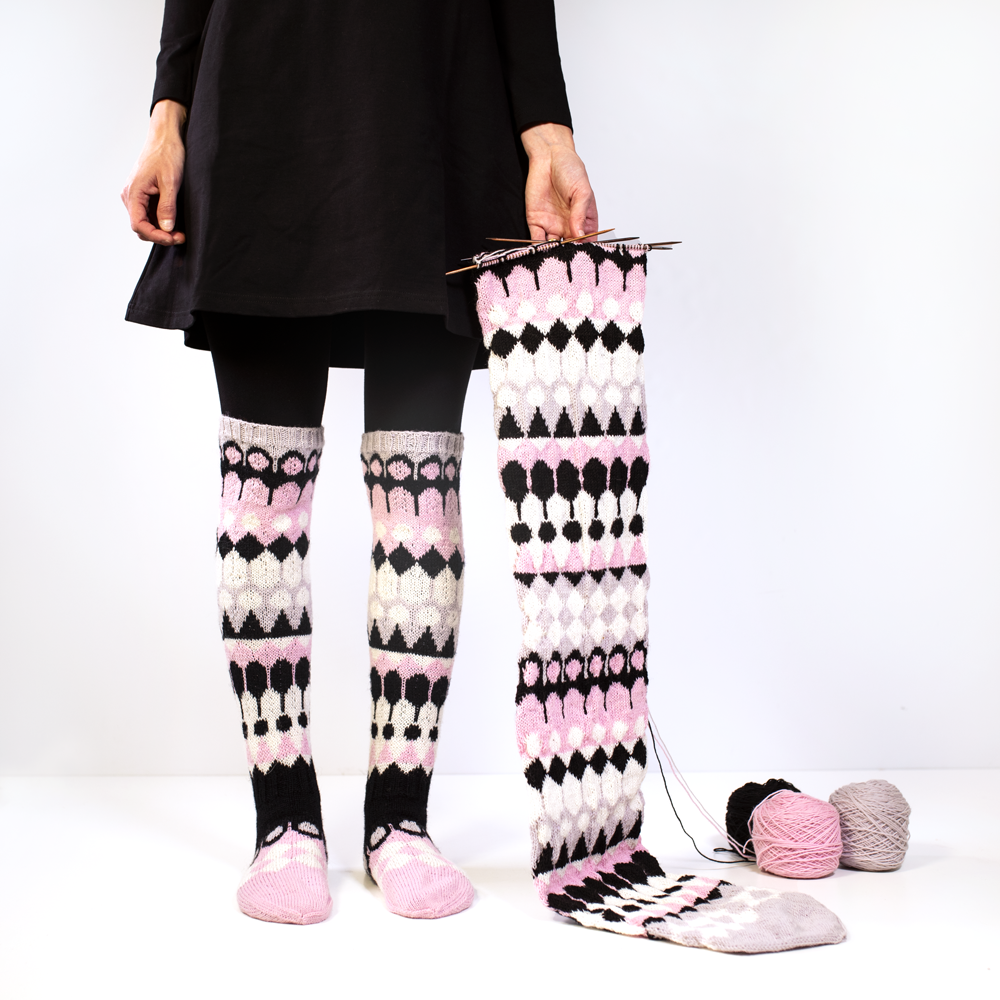 Knit your own Jussi -socks and -scarf
