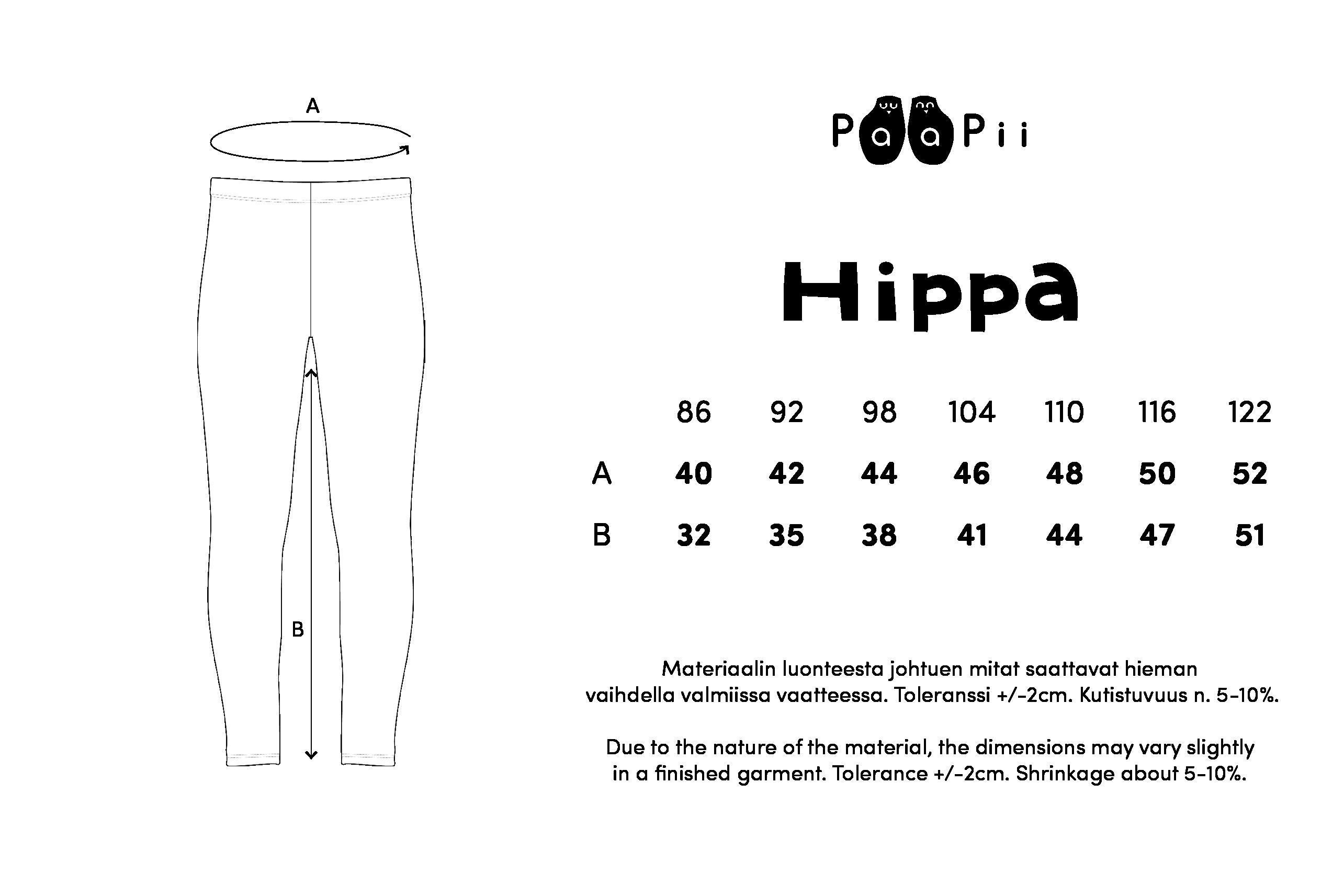 HIPPA leggins, mustikka