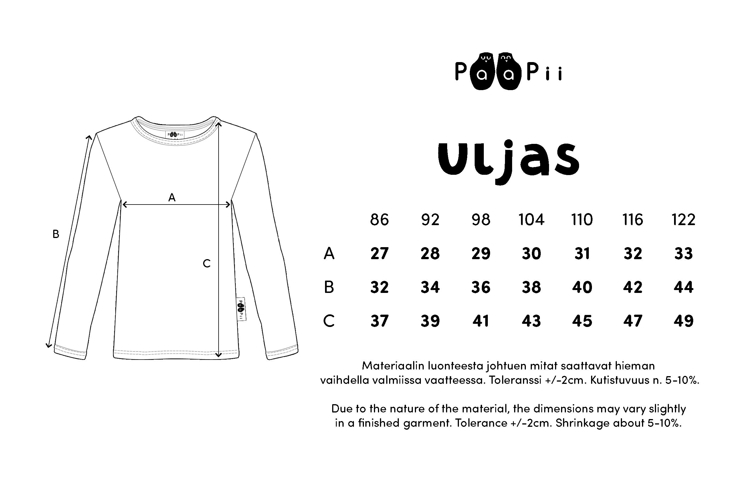 ULJAS paita,  Pesukarhu