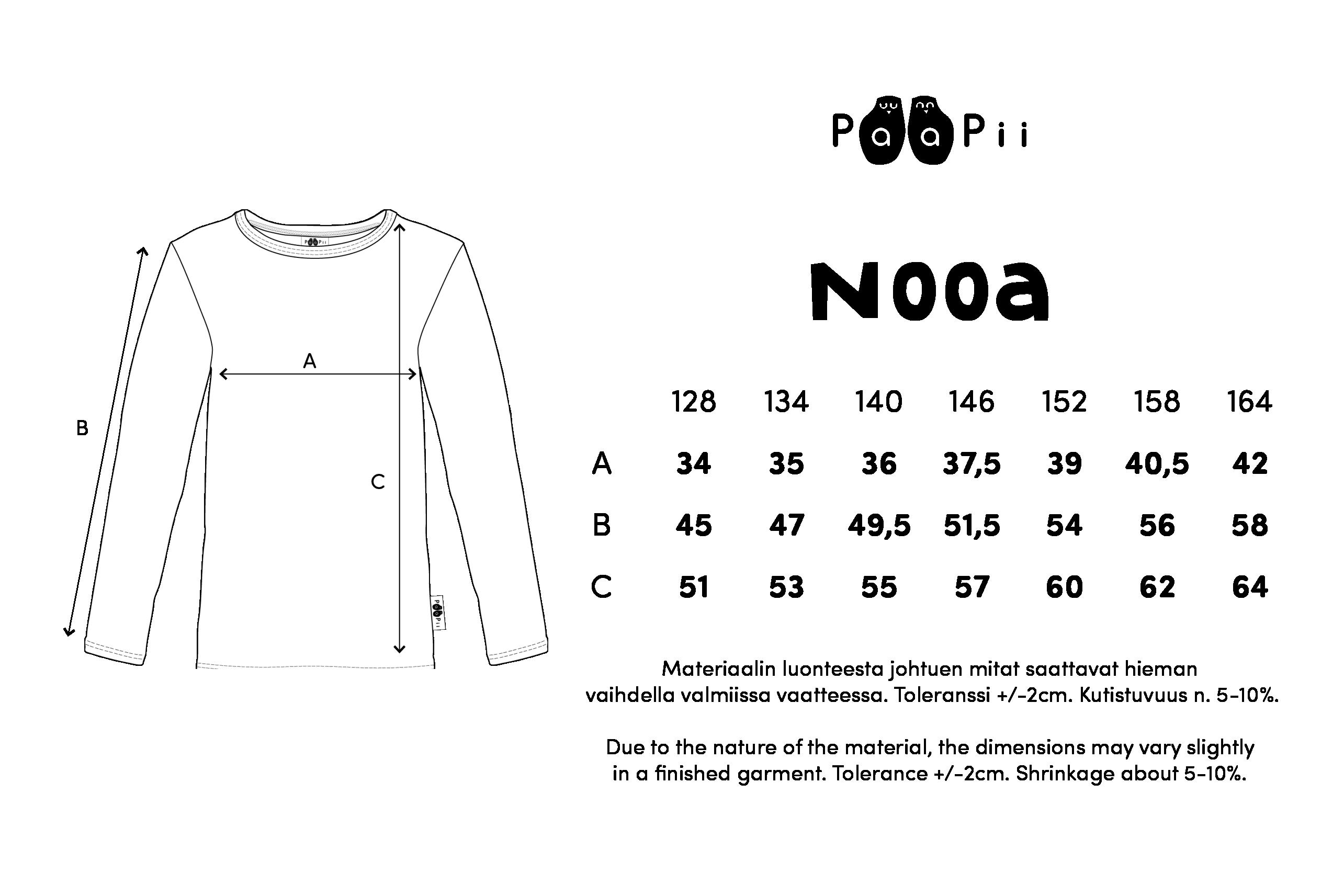 NOOA paita,  Pesukarhu