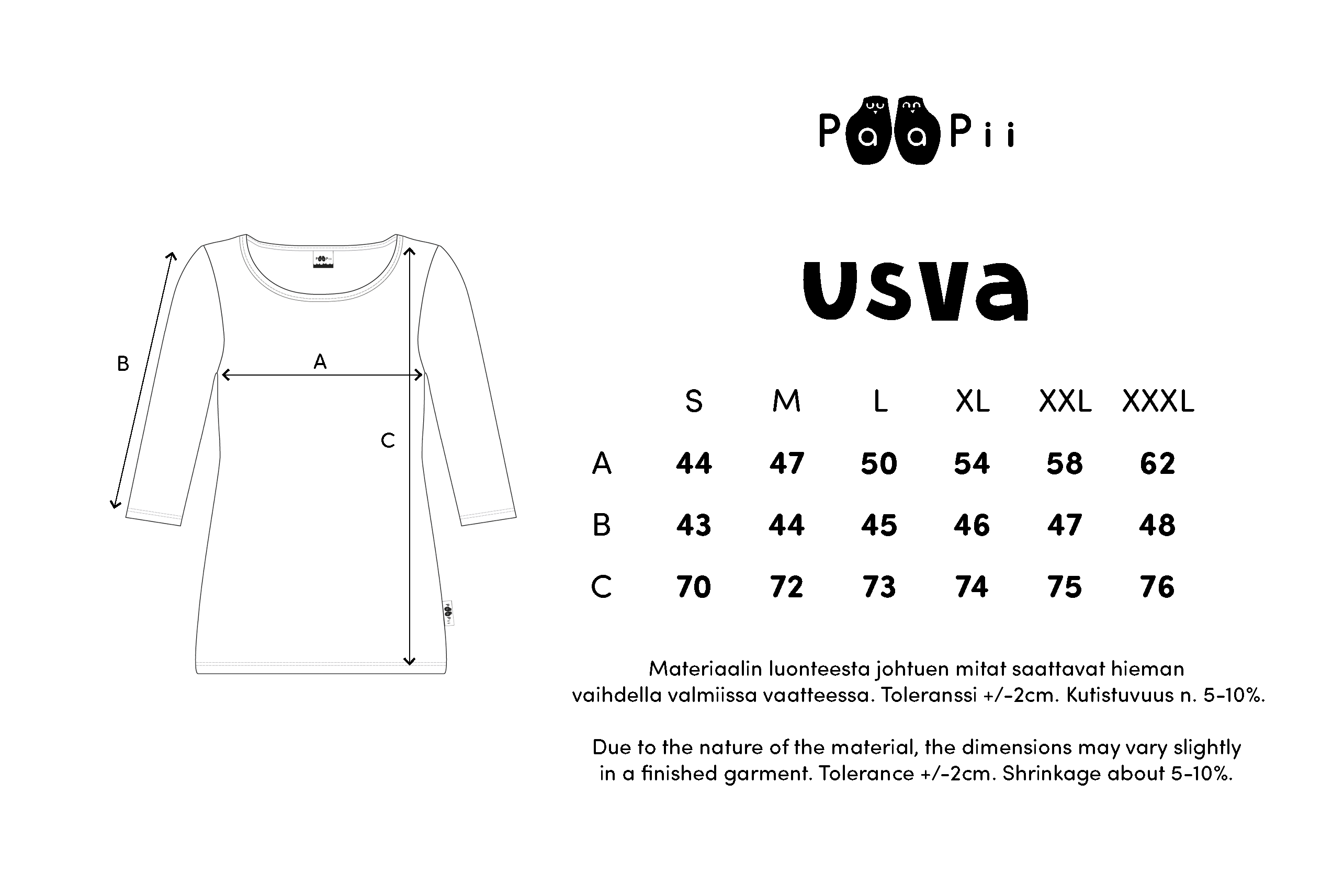 USVA paita,  Taiga