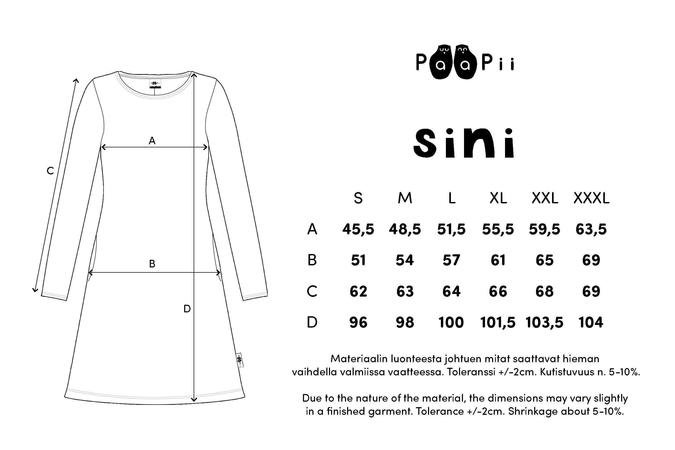 SINI mekko,  Puolukkapuu
