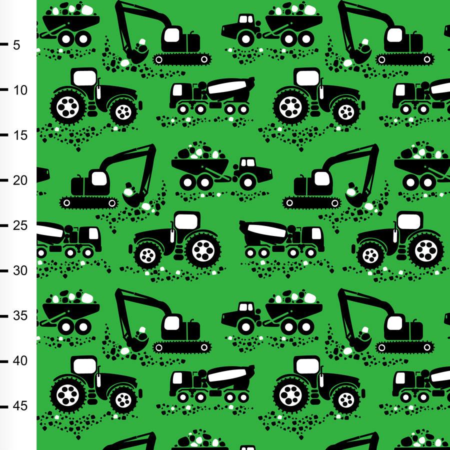 Työkoneet trikoo, vihreä