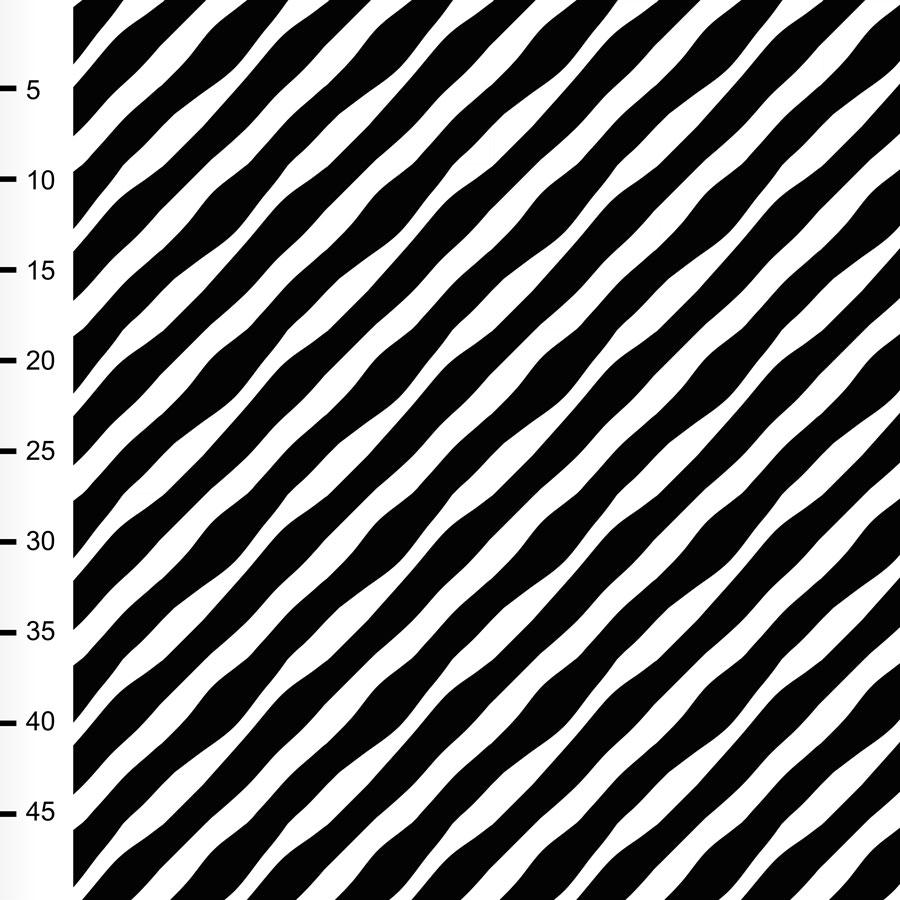 Diagonaali trikoo, mustavalkoinen