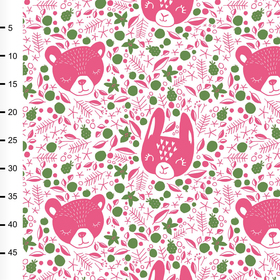 Berry dreams organic jersey, pink