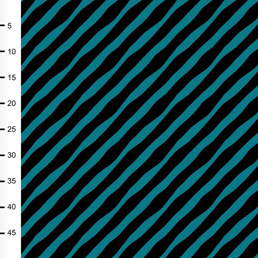 Diagonaali trikoo, petrooli - musta