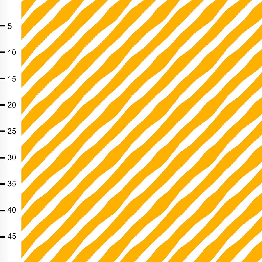 Diagonaali trikoo, aurinko - valkoinen
