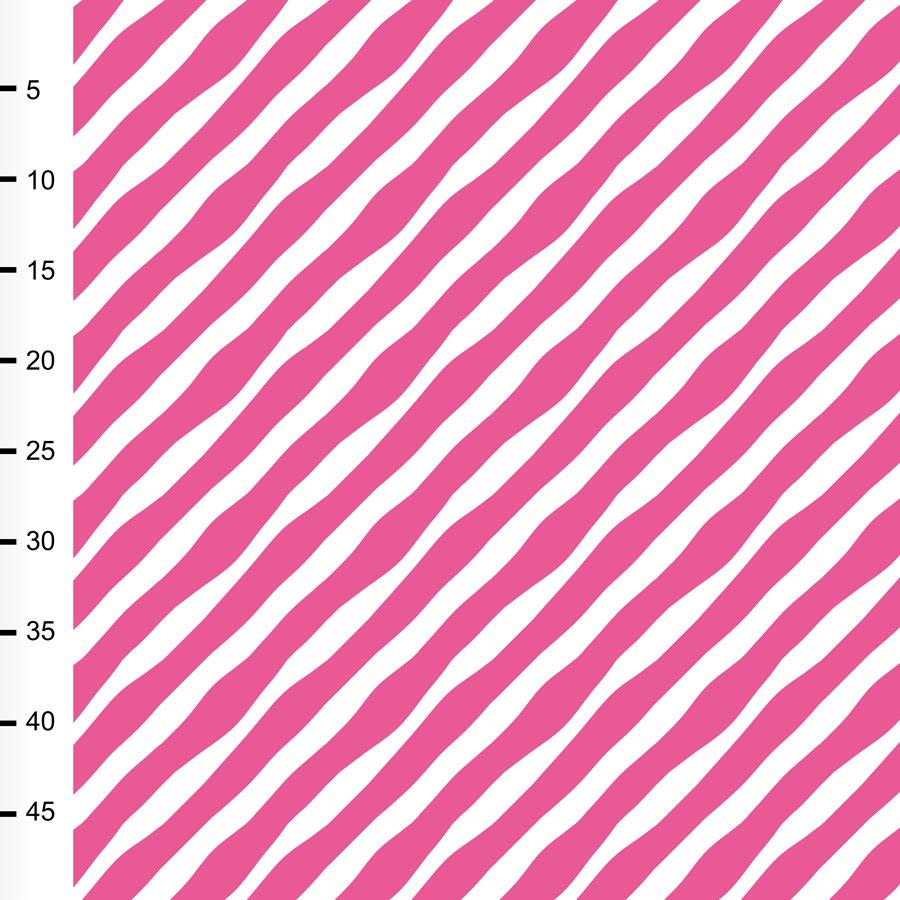 Diagonaali trikoo, pinkki -  valkoinen