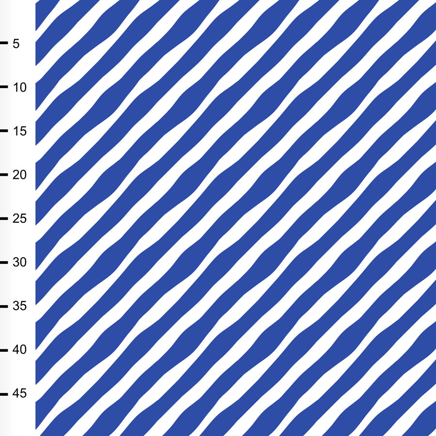 Diagonal organic jersey, blue - white