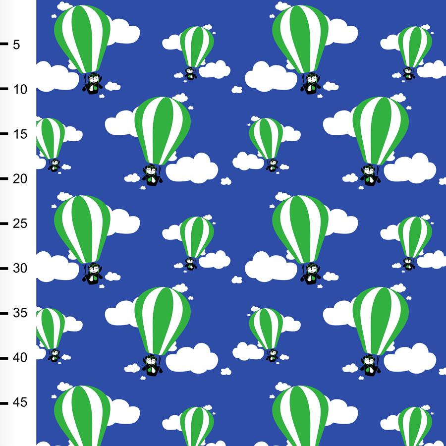 Kuumailmapallot trikoo, sininen - vihreä