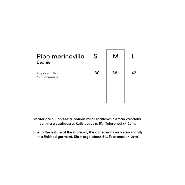 PIPO - merinovilla, harmaa - luonnonvalkoinen