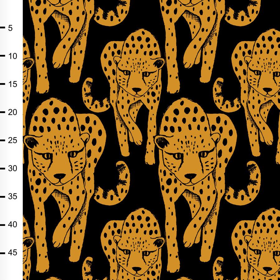 Gepardi trikoo, okra - musta