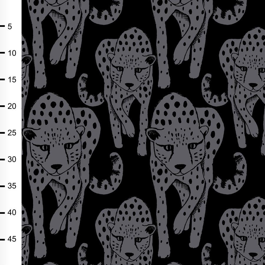 Gepardi joustocollege, tummanharmaa - musta
