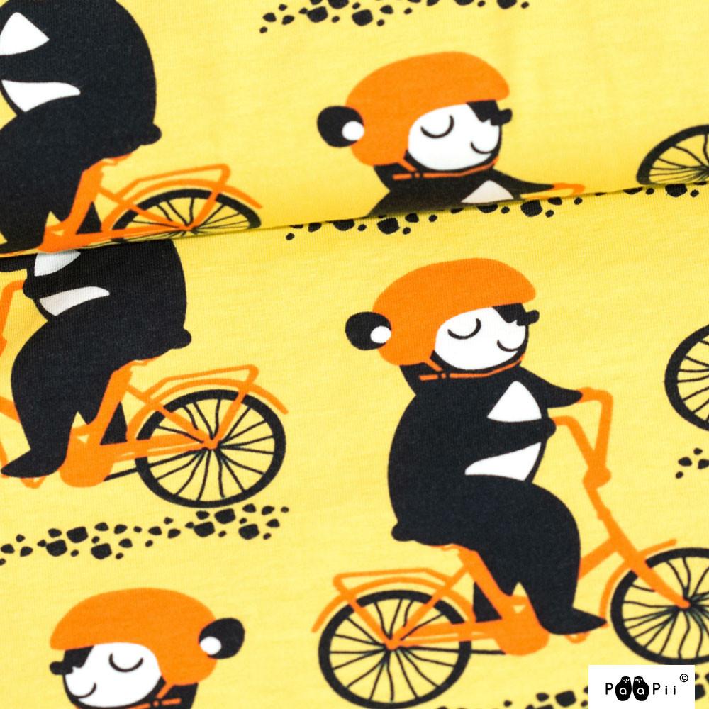 Into pyöräilee trikoo, keltainen - oranssi