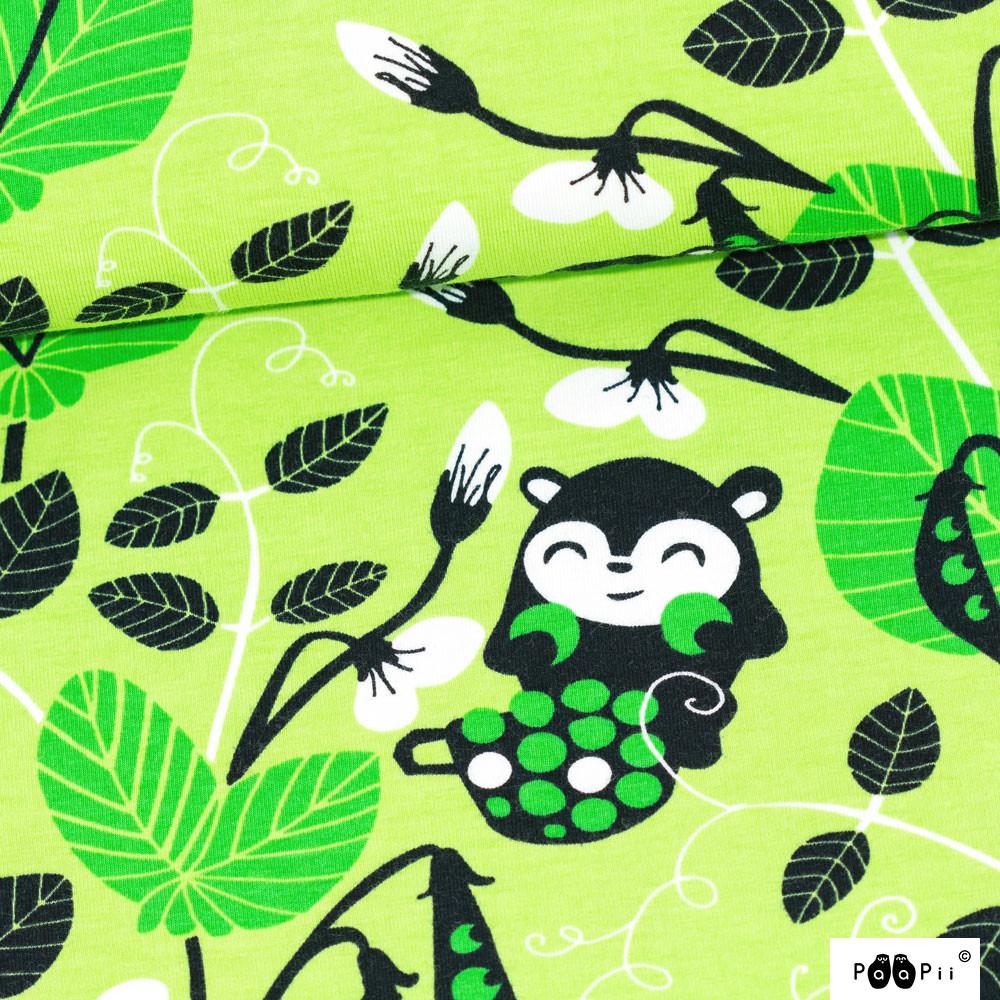 Peas organic jersey, apple - green