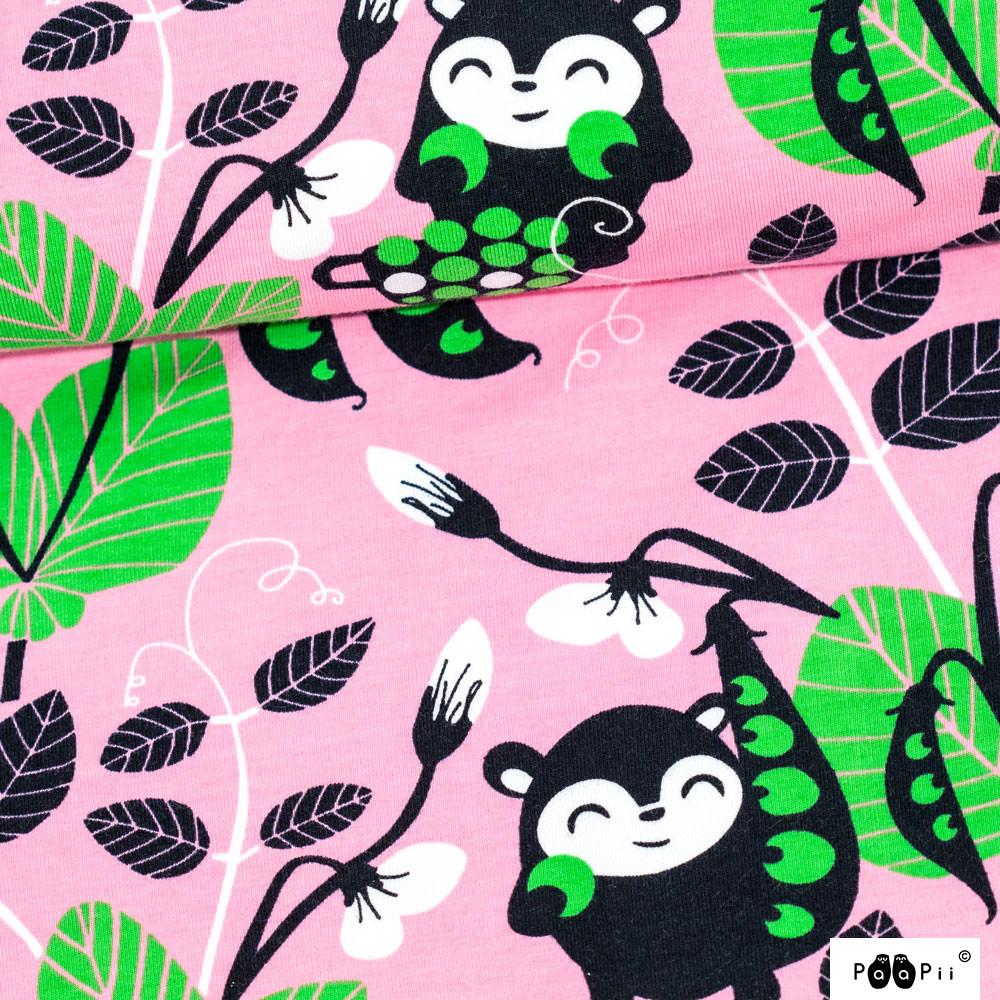 Herne trikoo, vaaleanpunainen - vihreä