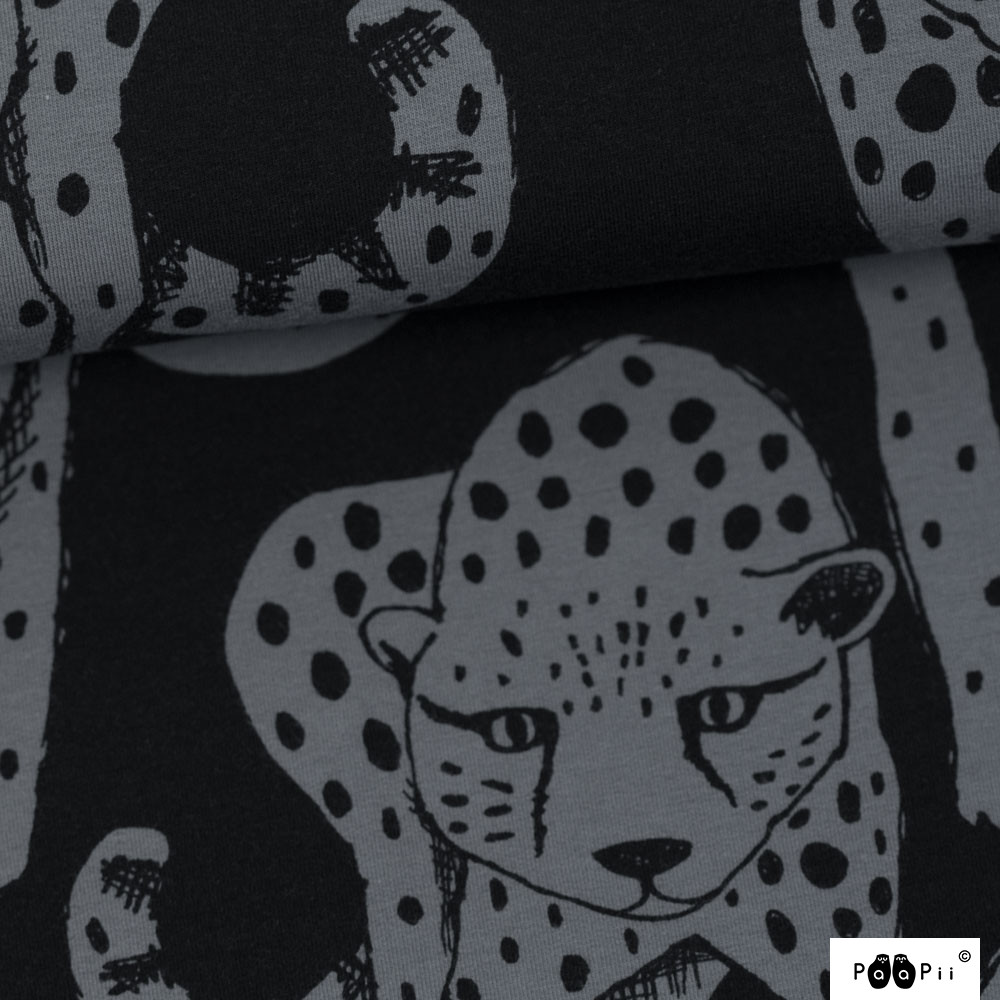Gepardi trikoo, tummanharmaa-musta