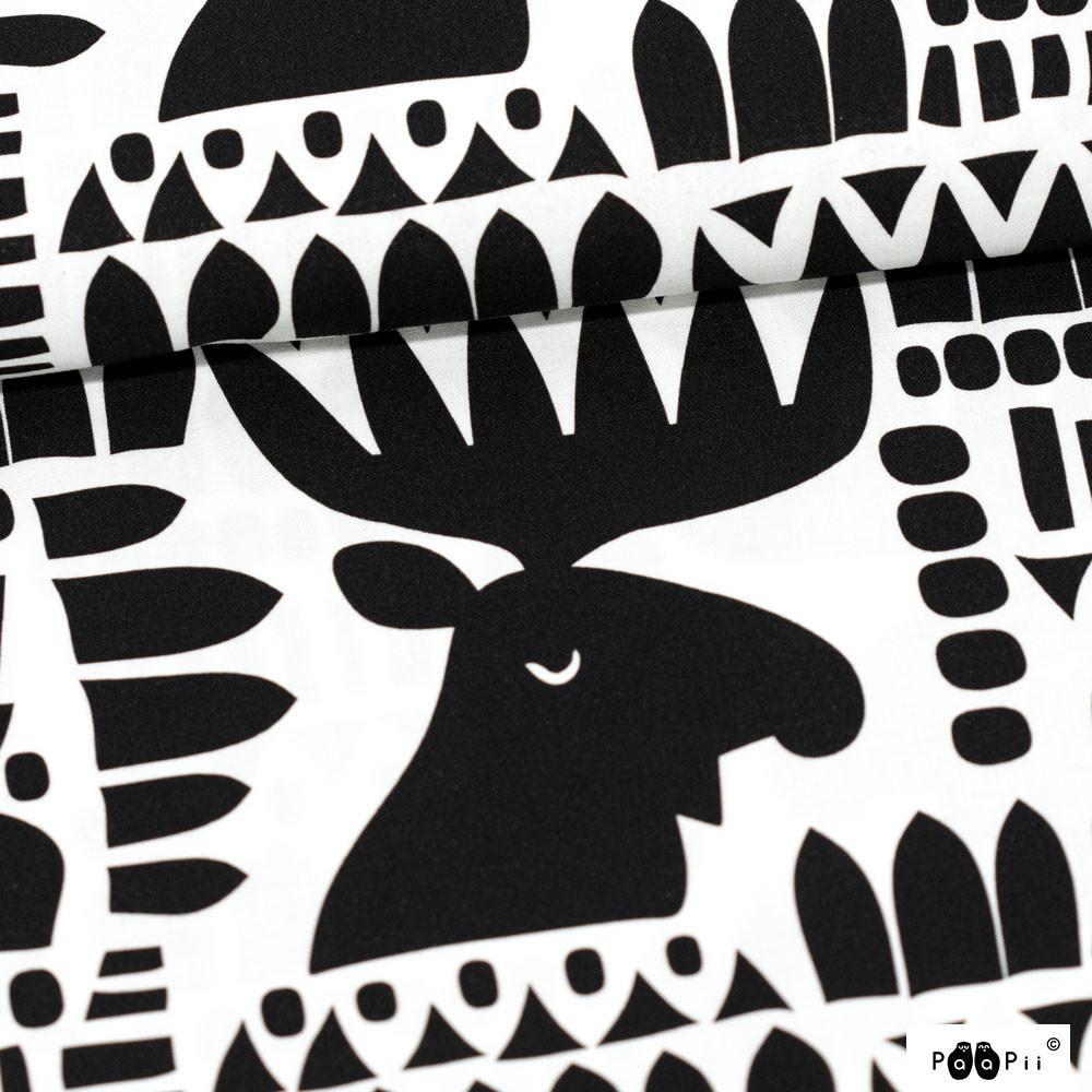 Moose cotton, black & white