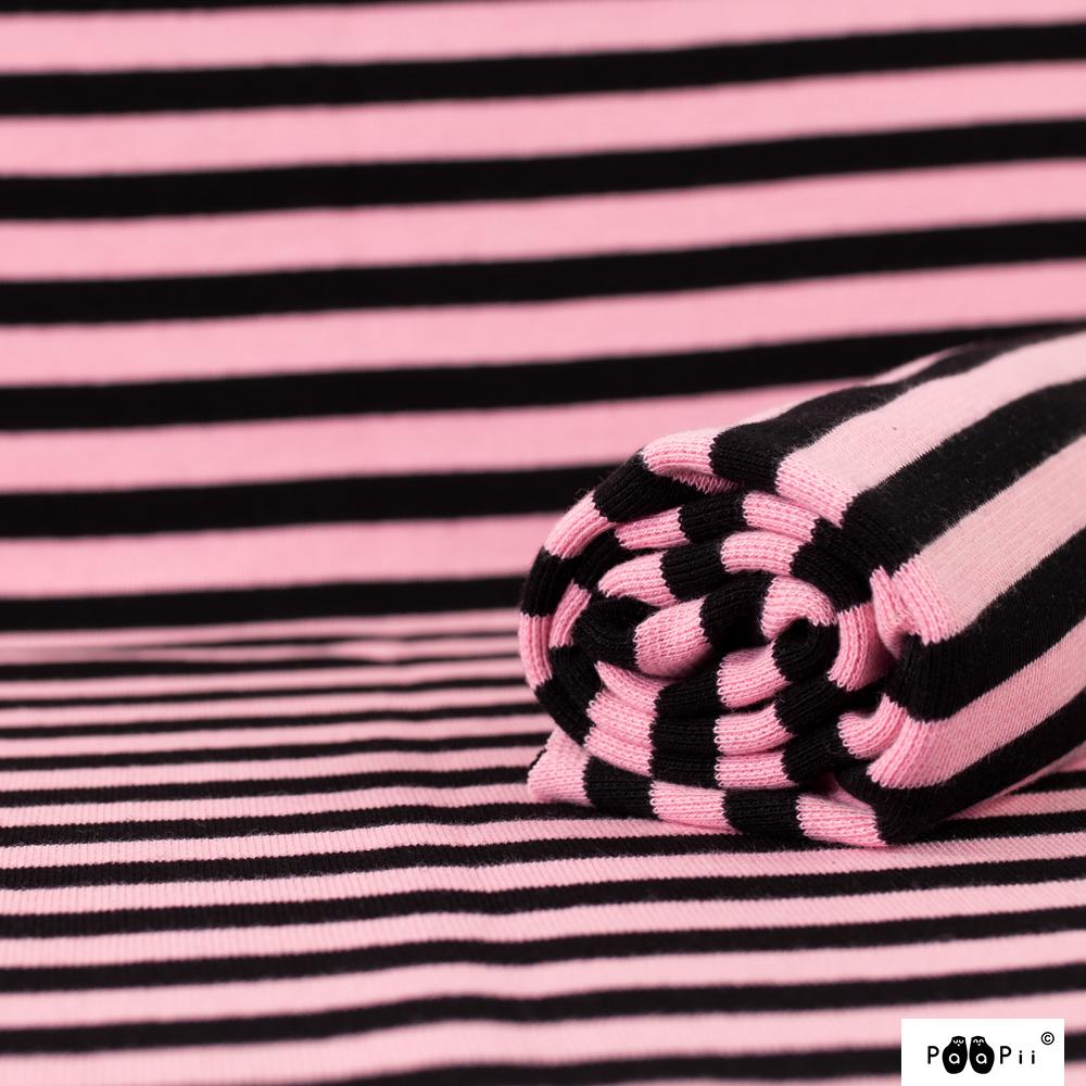 Organic ribbing, light pink - black