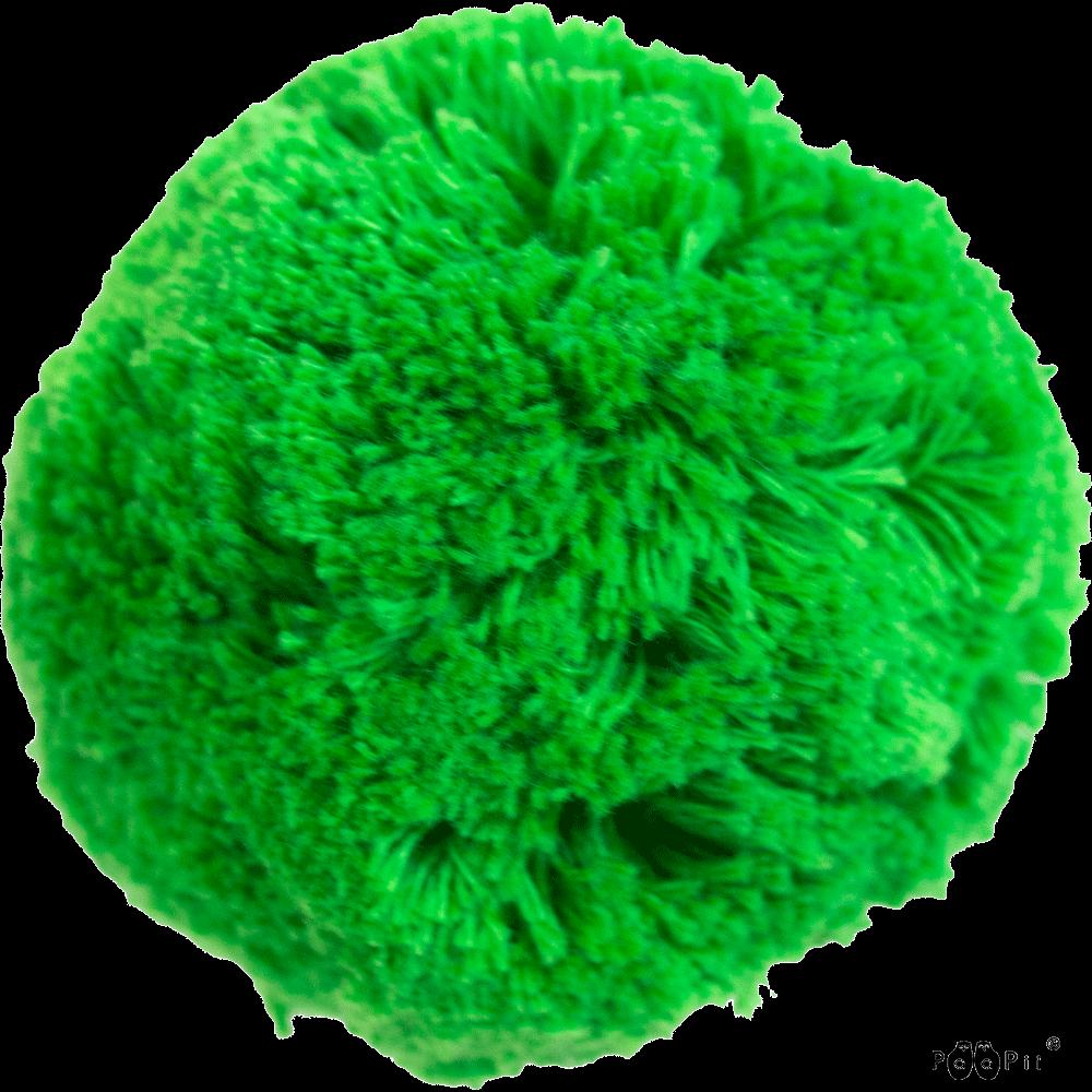 Cotton pom pom 7cm, green