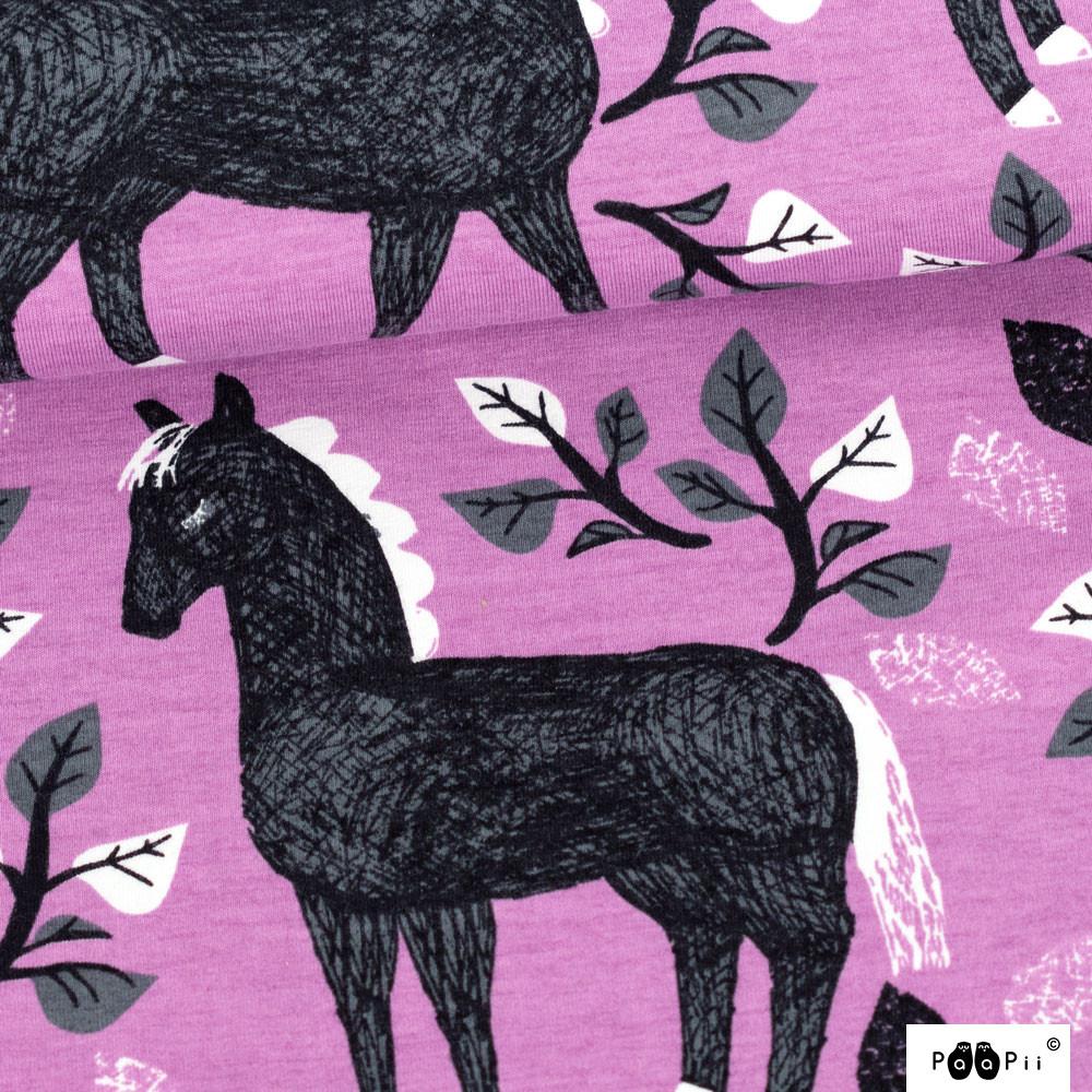 Runo trikoo, lila - tummanharmaa