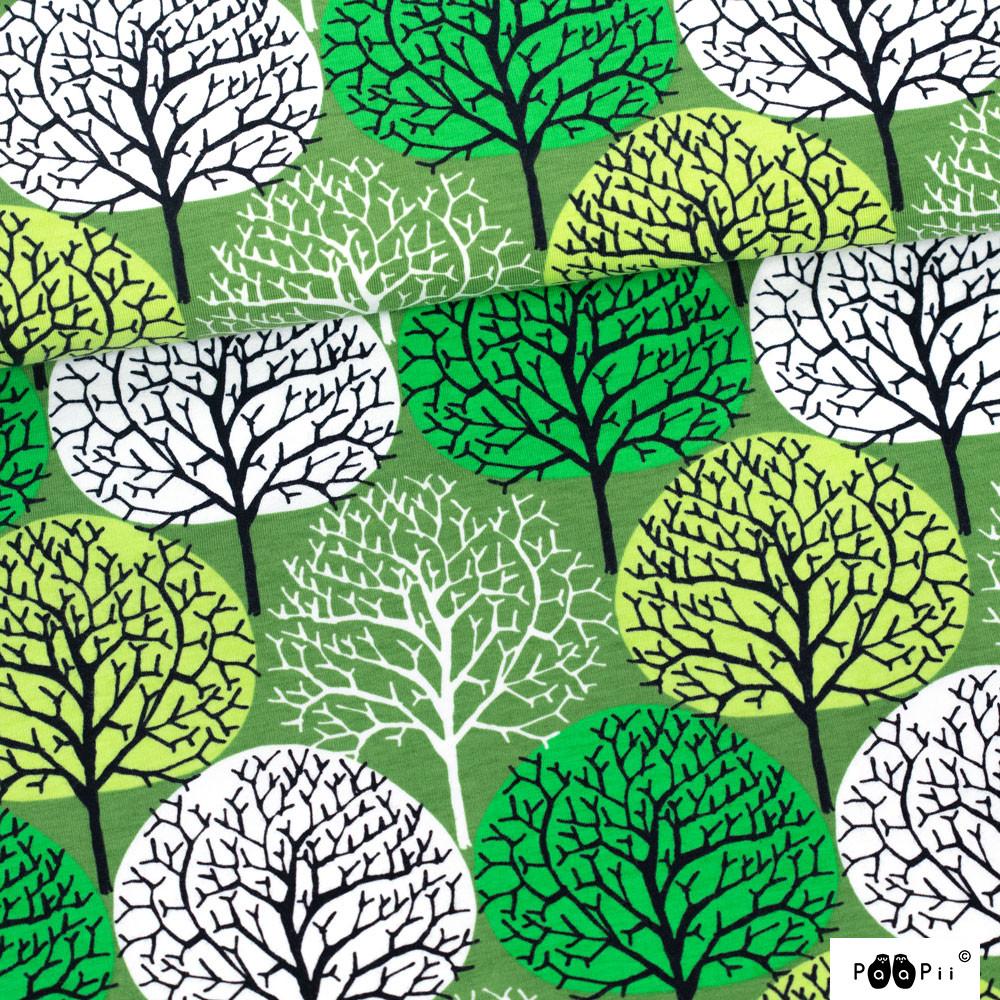 Vuodenajat trikoo, metsä - omena - vihreä