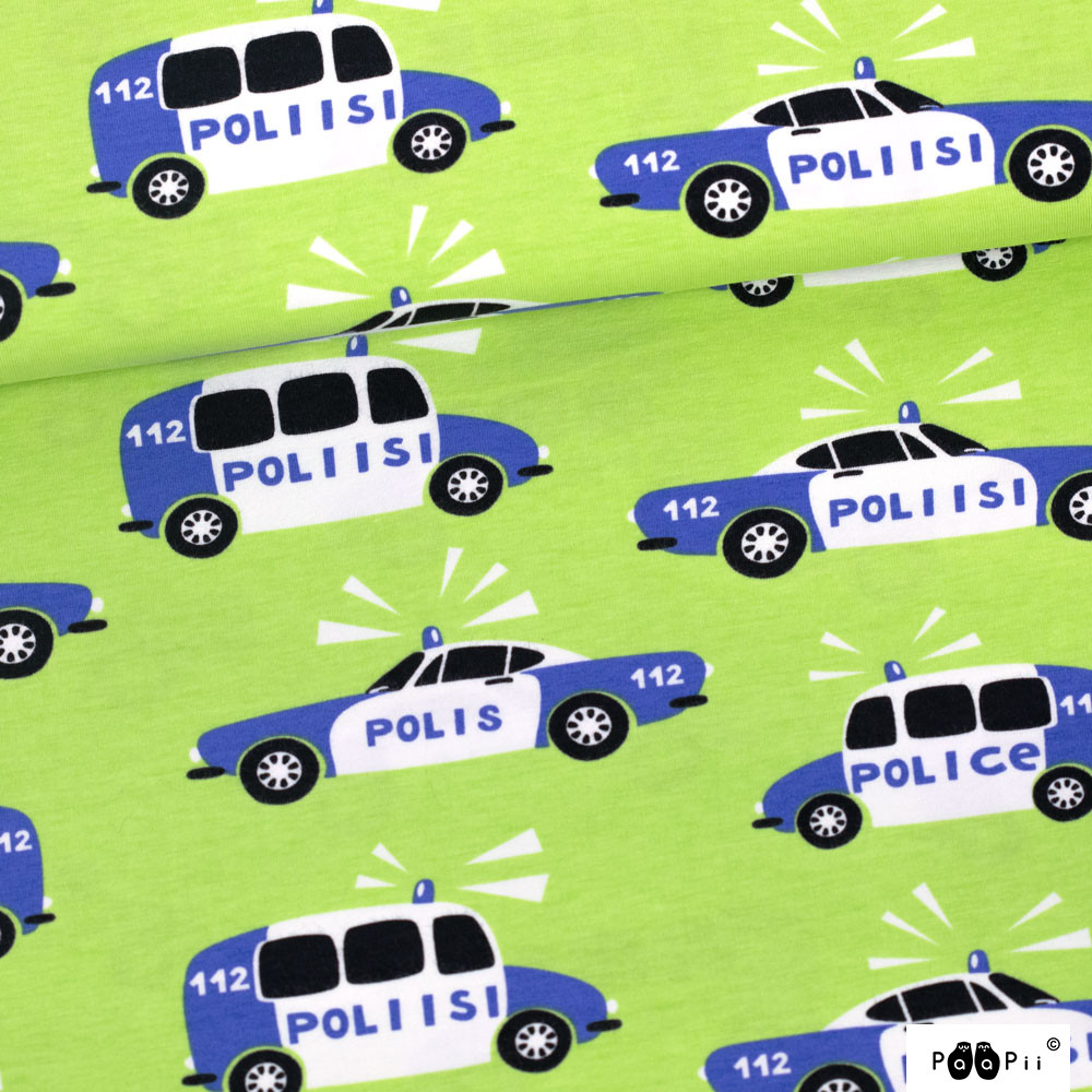 Poliisi trikoo, omena - sininen