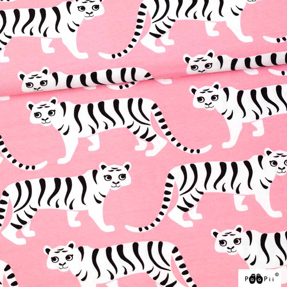 Tiikeriparaati trikoo, vaaleanpunainen