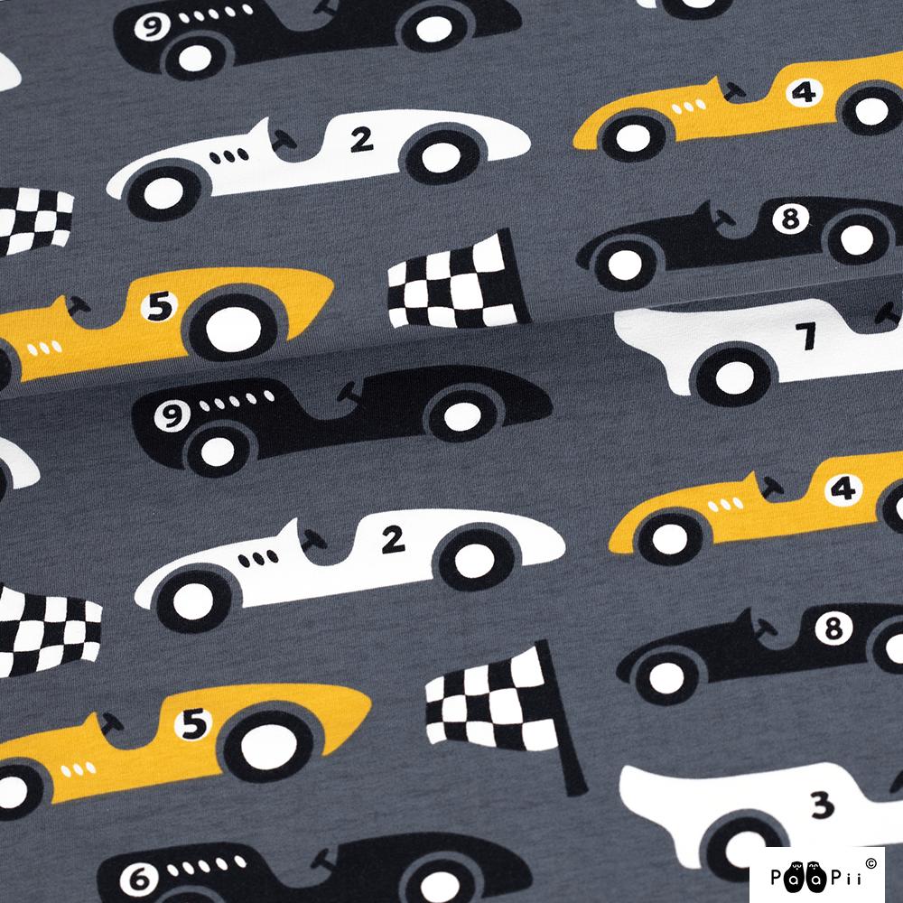 Kilpa-autot trikoo, tummanharmaa