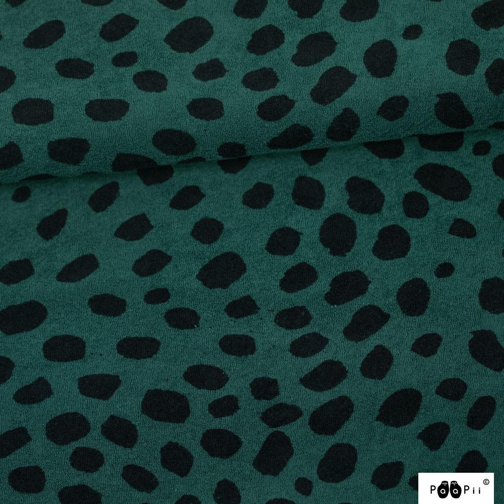 Gepardi dots joustofrotee, tummanvihreä