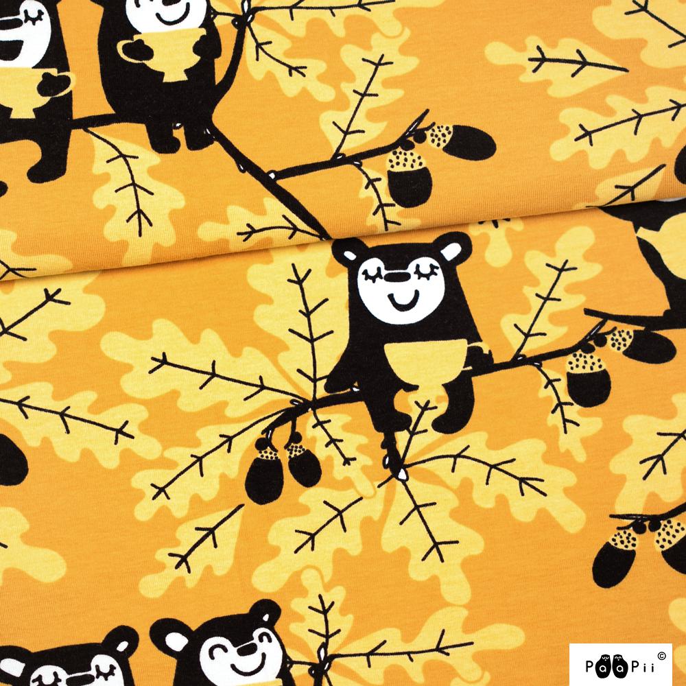 Tammi trikoo, okra - keltainen
