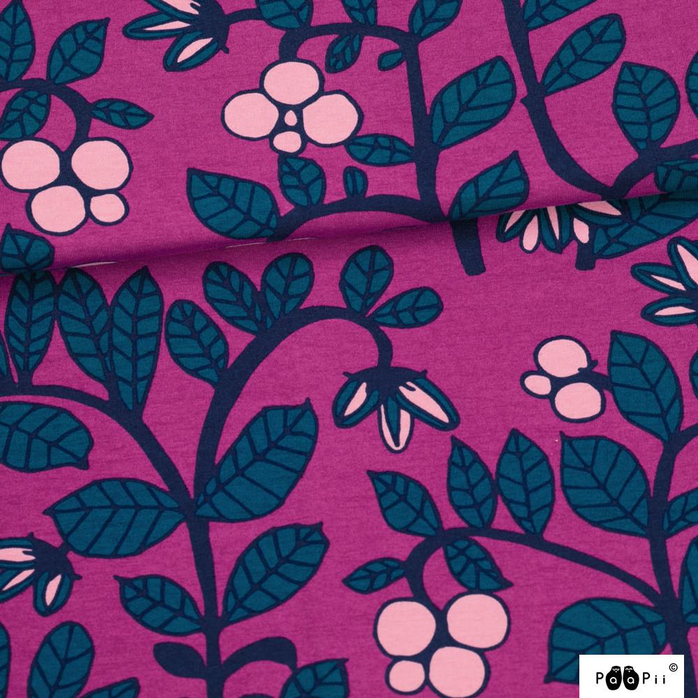 Puolukkapuu trikoo, violetti - petrooli
