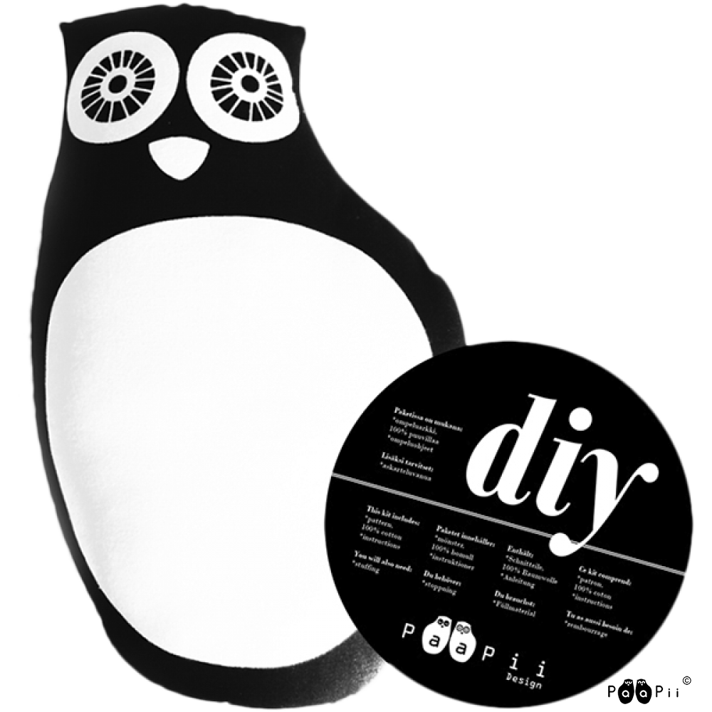 DIY Owl, black & white