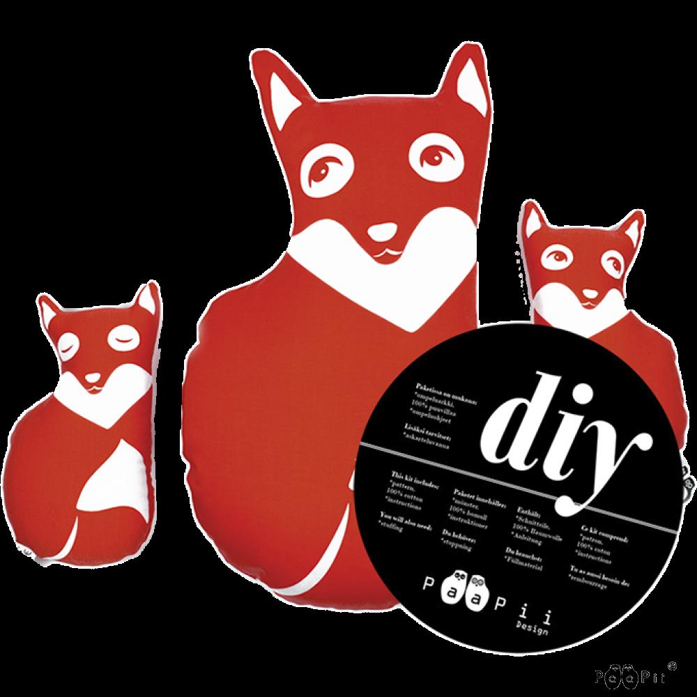 DIY Fox family, red