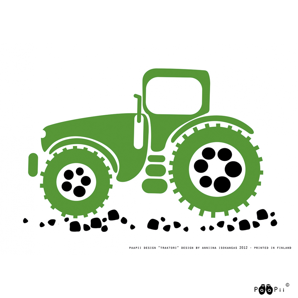 Juliste A4,  Traktori