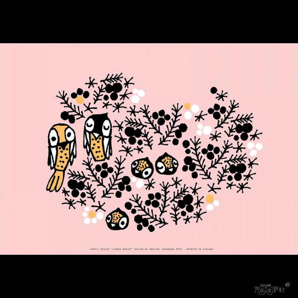 Juliste A3,  Linnun marjat