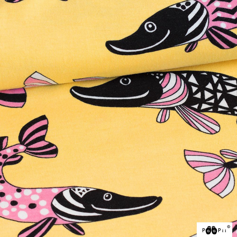 Hauki trikoo, keltainen - vaaleanpunainen