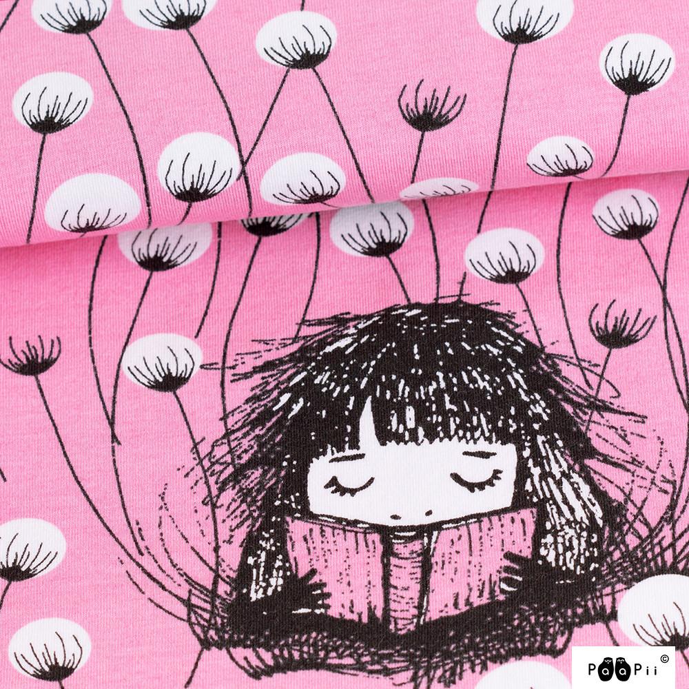 Tupasvillatyttö trikoo, vaaleanpunainen